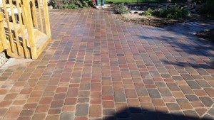 Pavers are in place on new deck using MAKO FinCap Screed Chairs